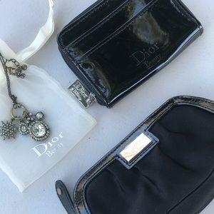 CD Christian Dior 3 piece Set Wallet Necklace Bag